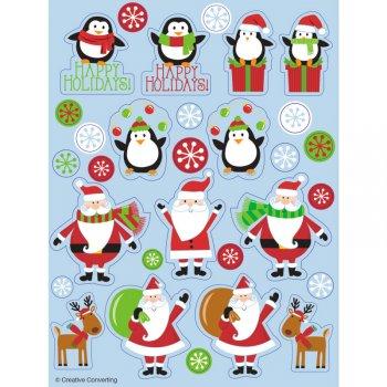 4 Planches de Stickers Noël Bleu