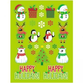 4 Planches de Stickers Noël Vert