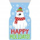 12 Pochettes Cadeaux Cello Ours polaire Happy Hollidays