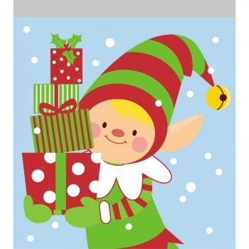 10 Petites Pochettes Gâteaux Cello Elfe de Noël