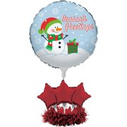 Centre de table Ballon Bonhomme de Neige (60 cm)