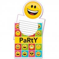 8 Invitations Emoji Smiley