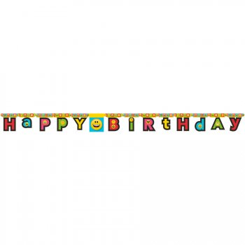 Guirlande Happy Birthday Emoji Smiley (2,23 m)