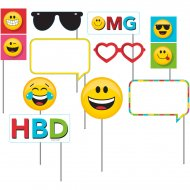 Kit 10 Photo Booth Emoji Smiley