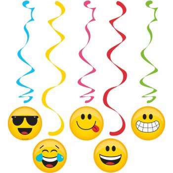 5 Guirlandes Spirales Emoji Smiley
