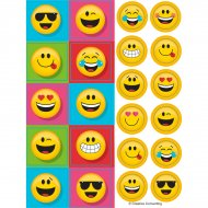 4 Planches de Stickers Emoji Smiley Fun