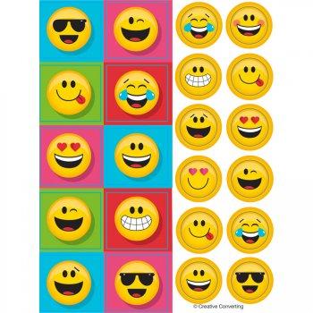 4 Planches de Stickers Emoji Smiley Fun