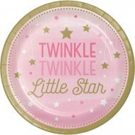 8 Assiettes Little Star Baby Girl