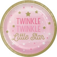 Contient : 1 x 8 Assiettes Little Star Baby Girl