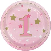 8 Petites assiettes Little Star Baby Girl