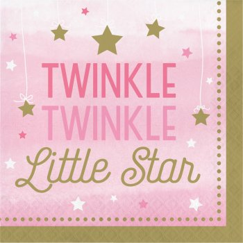 16 Serviettes Little Star Baby Girl