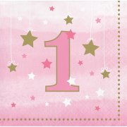 16 Petites Serviettes Little Star Baby Girl