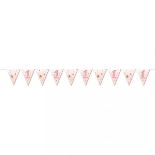 Guirlande Fanions Little Star Baby Girl (3,70 m) - Papier