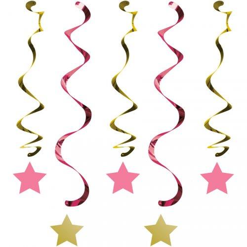 5 Guirlandes Spirales Little Star Baby Girl