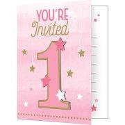 8 invitations 1 An Little Star Baby Girl