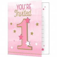 8 invitations 1 An Little Star Baby Girl