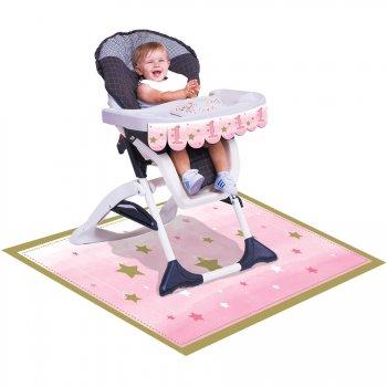 Kit Déco Chaise Bébé Little Star Baby Girl