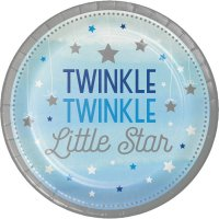 Contient : 1 x 8 Assiettes Little Star Baby Boy