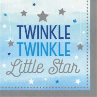 Contient : 1 x 16 Serviettes Little Star Baby Boy