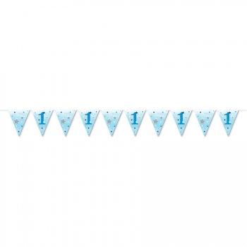Guirlande fanions Little Star Baby Boy (3,70 m) - Papier