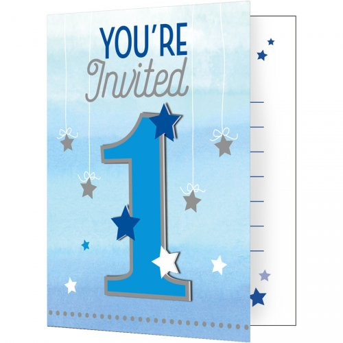 8 invitations 1 An Little Star Baby Boy