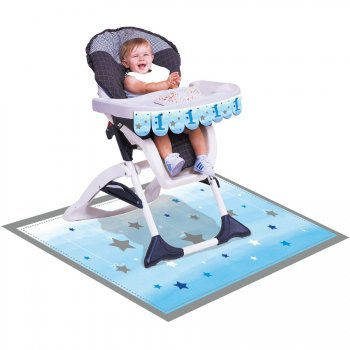 Kit Déco Chaise Bébé Little Star Baby Boy