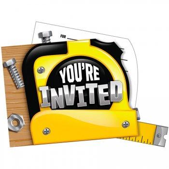 8 Invitations Caisse à Outils