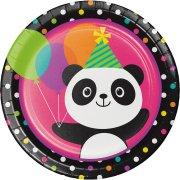 8 Assiettes Joyeux Panda