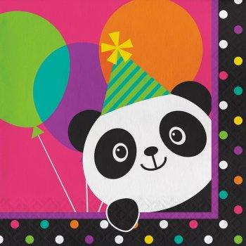 16 Serviettes Joyeux Panda