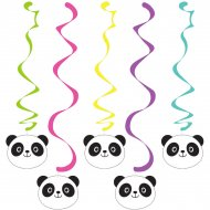 5 Guirlandes Tourbillons Joyeux Panda