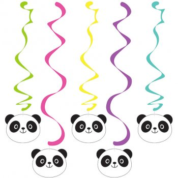 5 Guirlandes Spirales  Joyeux Panda