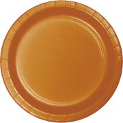 24 Assiettes Orange Camel