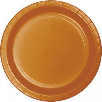24 Petites Assiettes Orange Camel
