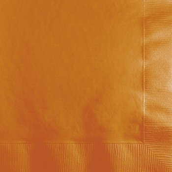 50 Petites Serviettes Orange Camel
