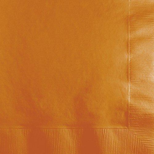 50 Petites Serviettes Orange Camel