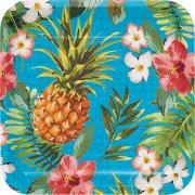 8 Assiettes Aloha Ananas