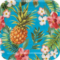 Contient : 1 x 8 Assiettes Aloha Ananas