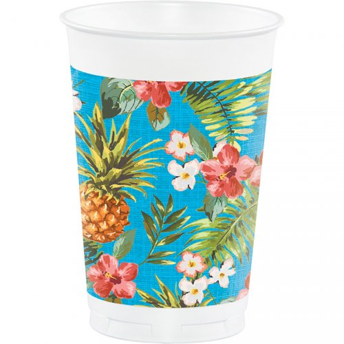 8 Grands Gobelets Aloha Ananas (47 cl)