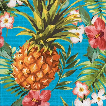 16 Serviettes Aloha Ananas