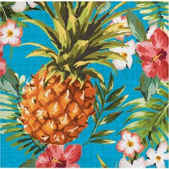 16 Petites Serviettes Aloha Ananas