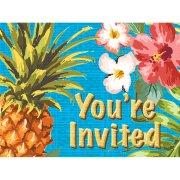 8 Invitations Aloha Ananas