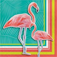 16 Serviettes Flamant Rose Oasis