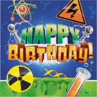 Contient : 1 x 16 Serviettes Happy Birthday Savant Fou
