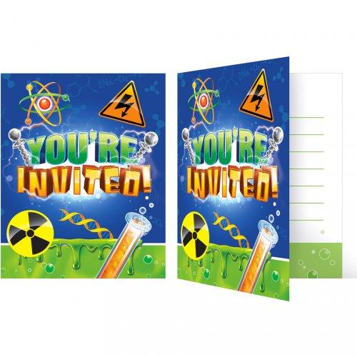 8 invitations Savant Fou