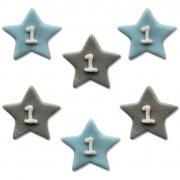 6 Décors Little Star baby Boy (2,5 cm) - Sucre