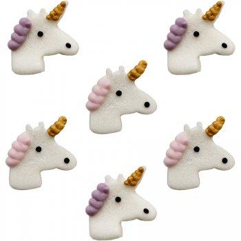 6 Têtes de Licorne (3,5 cm) - Sucre