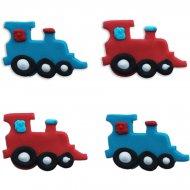 4 Décors Locomotive (4 cm) - Sucre