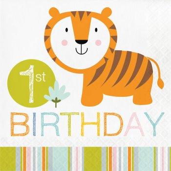 16 Serviettes Happy Jungle 1 an