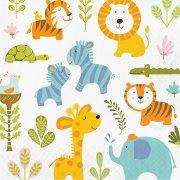 16 Serviettes Happy Jungle