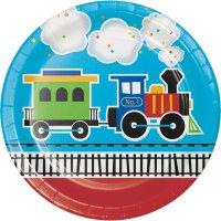 Contient : 1 x 8 Assiettes Petit Train